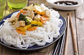 picture of stir fry  - Tofu stir fry with carrot - JPG