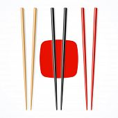 stock photo of chopsticks  - Red - JPG