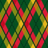 Rhombic Tartan Green And Red Fabric Seamless Texture