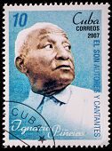 CUBA - CIRCA 2007: A stamp printed in cuba dedicated to authors and singers of Cuban son, shows Igna