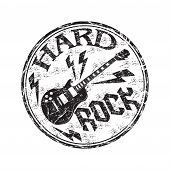 Постер, плакат: Hard rock rubber stamp