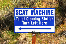 image of scat  - Scat Machine toilet cleaning staion in Maupin Oregon - JPG