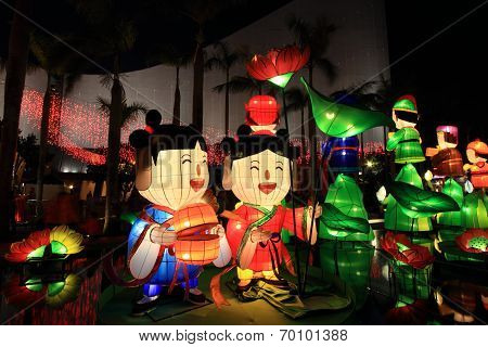 Chinese cartoon lanterns