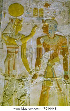 Hathor and Pharoah Seti