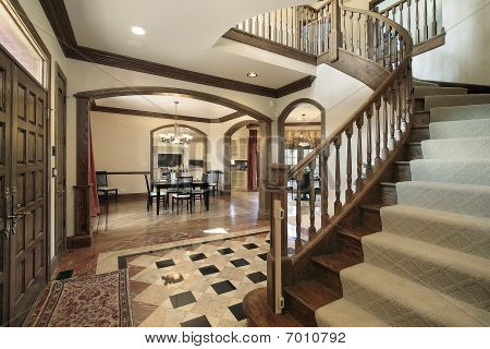 Foyer With Floor Design