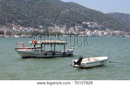 Local Turkish fishing boats