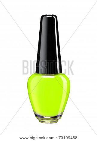 Vibrant colourful green nail varnish