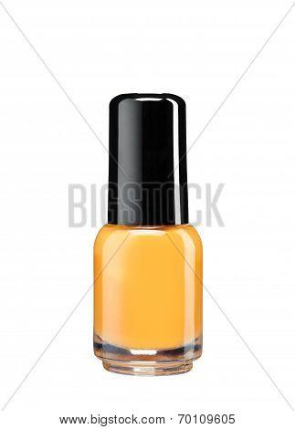 Orange nail varnish