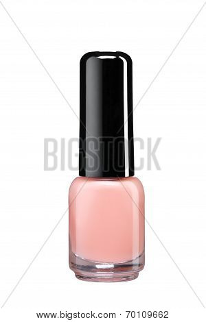 Bottle of cream color nail polish
