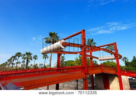 Red Drawbridge - Barcelona Spain