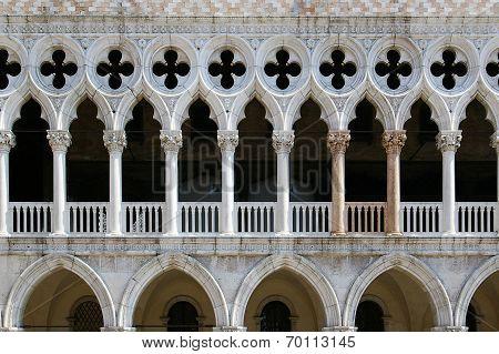 Venetian Gothic Architecture: Fragment Of Venetian Window, Rhythmic Composition