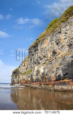 Big Cliffs Of Ballybunion On The Wild Atlantic Way