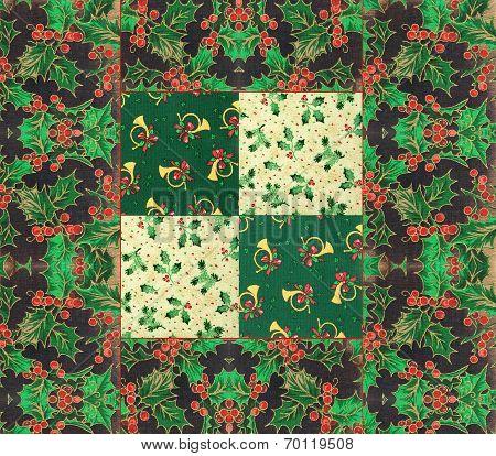 Festive quilt design for Christmas