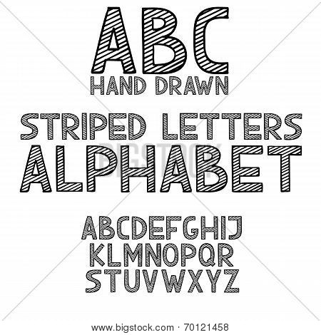 Blackboard chalkboard Chalk hand draw doodle abc, alphabet grunge scratch type font vector illustrat