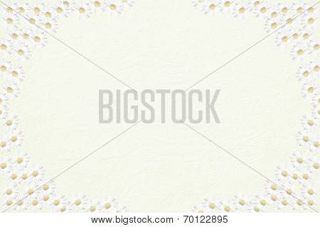 Light Structured Background With Half Transparent Marguerite Frame