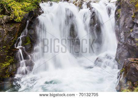 Waterfall on the Paradise River Mt. Rainier National Park Washington