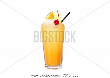cocktail with orange and cherry