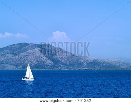 Sailing At Ionian Sea