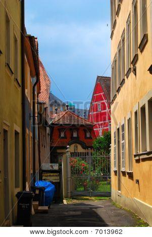 Residential inner yard in Bamberg