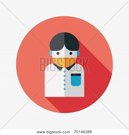 Patient Flat Icon With Long Shadow