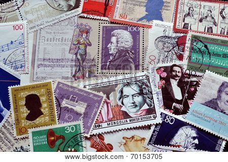 Music on stamps