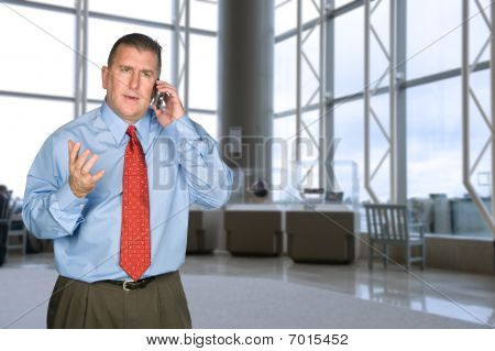 Businessman Arguing On Phone