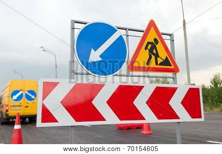Road Works Signs
