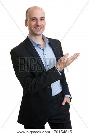 Business Man Pointing To Copy Space