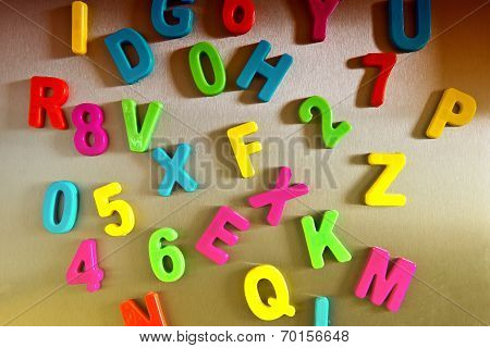 Letters On A Glossy Surface