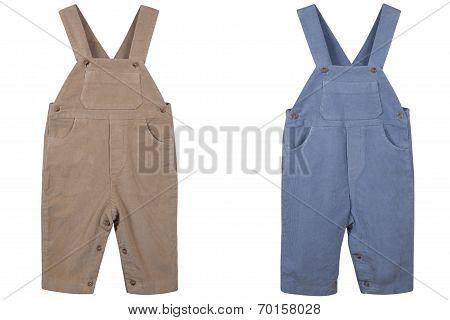Children's Overalls Velveteen