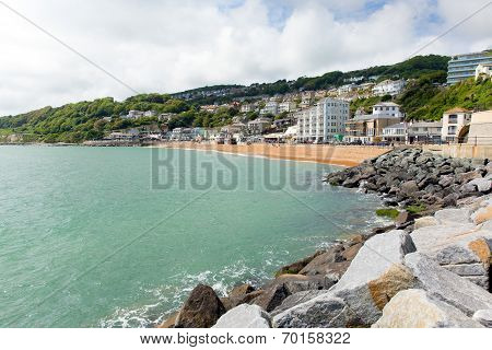 Ventnor seafront Isle of Wight south coast of the island tourist town