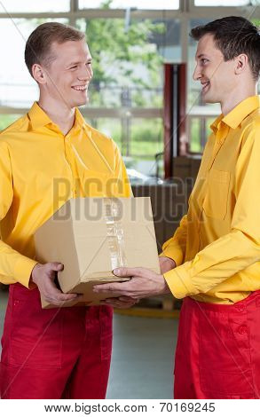 Warehouse Workers During Job