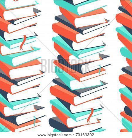 Seamless book pattern