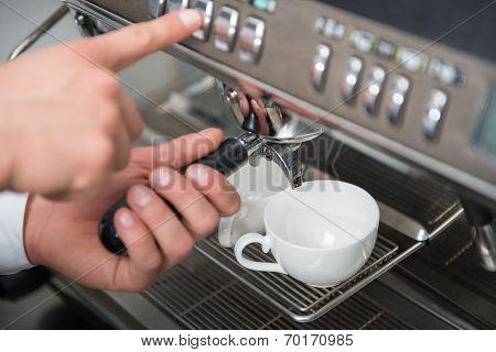 Barista and coffee machine