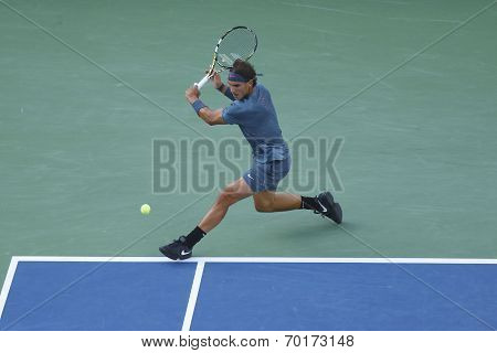 US Open 2013 champion Rafael Nadal during final match against Novak Djokovic