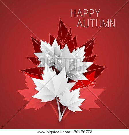 autumn background - abstract vector illustration