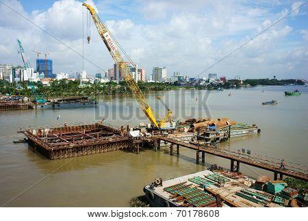 Construction Site On Saigon River