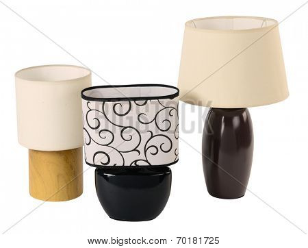 Ceramic lamps. Isolated