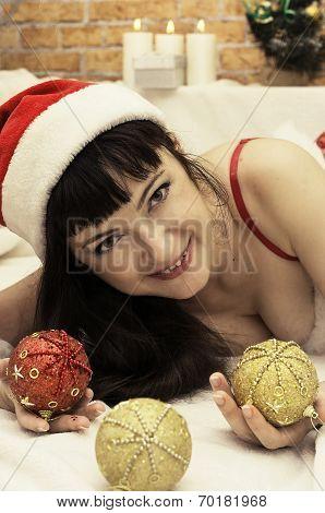 woman in a fancy dress snow maiden