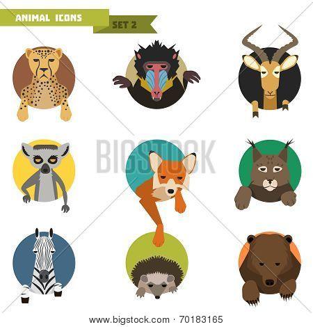 Animal avatars. Vector Illustration