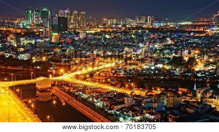 Impression Night Landscape Of Asia City