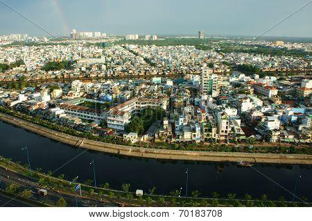 Impression Panaromic Of Asia City On Day