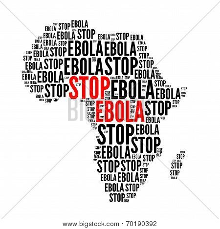 Stop Ebola Red And Black