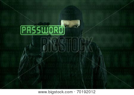 Hacker Taking Password From Modern Interface 1