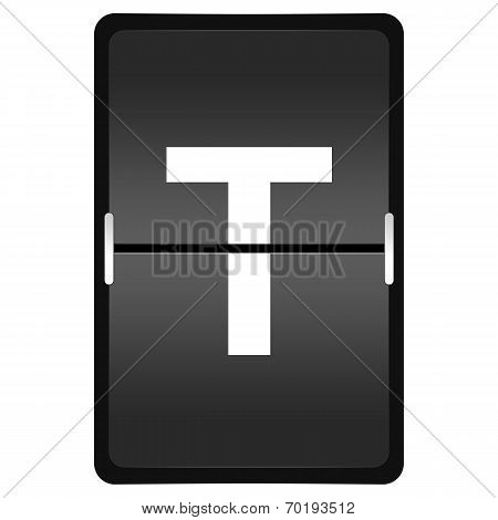 Flipboard Letter T From A Series Of Airport Timetable
