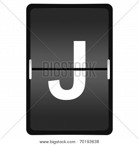 Flipboard Letter J From A Series Of Airport Timetable