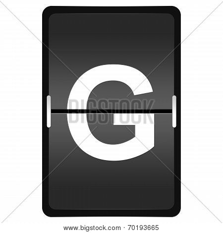 Flipboard Letter G From A Series Of Airport Timetable