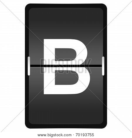 Flipboard Letter B From A Series Of Airport Timetable