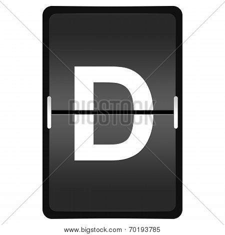 Flipboard Letter D From A Series Of Airport Timetable