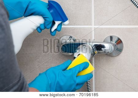 Cleaning Bathroom